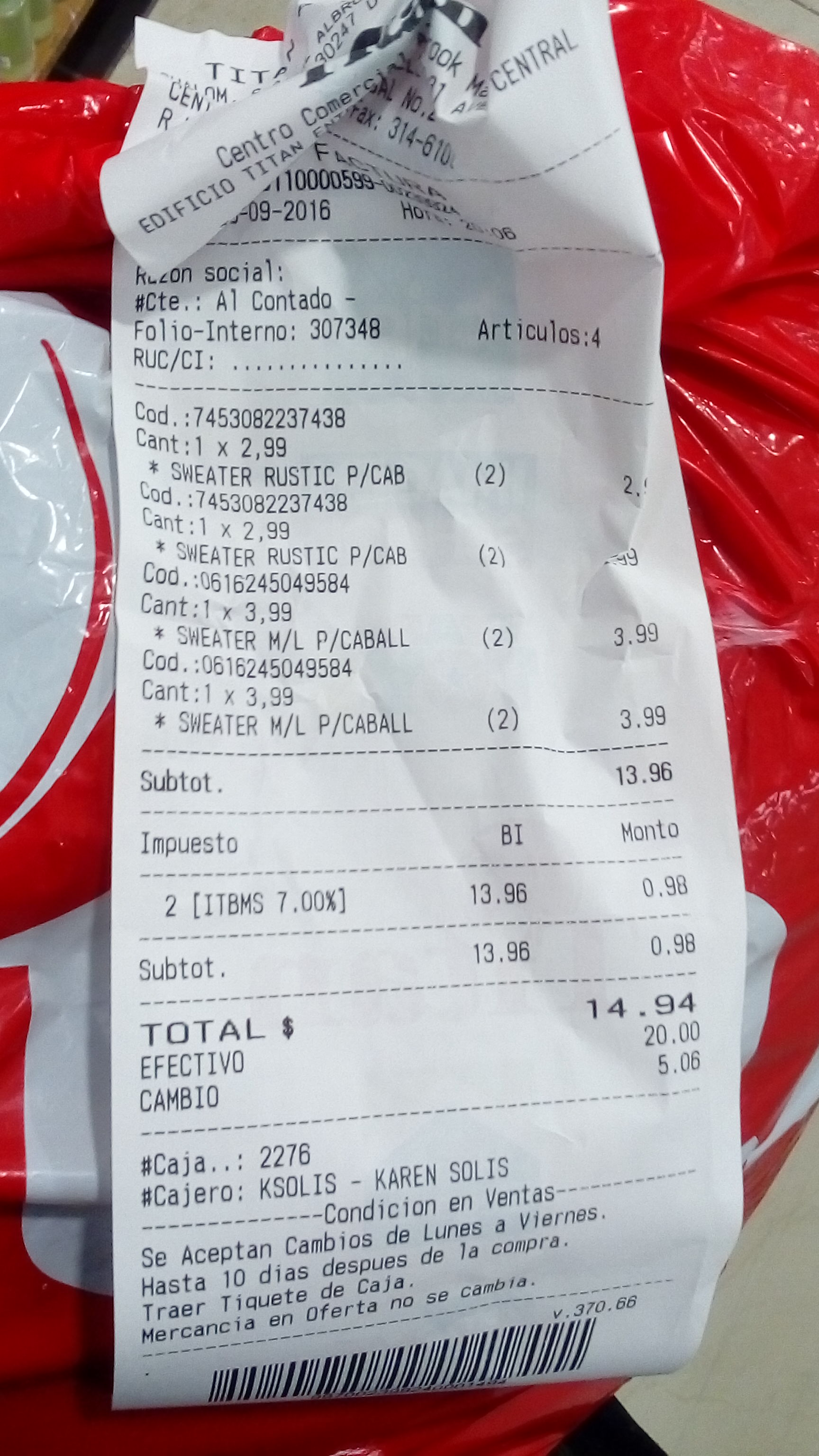 costo de productos en panamá
