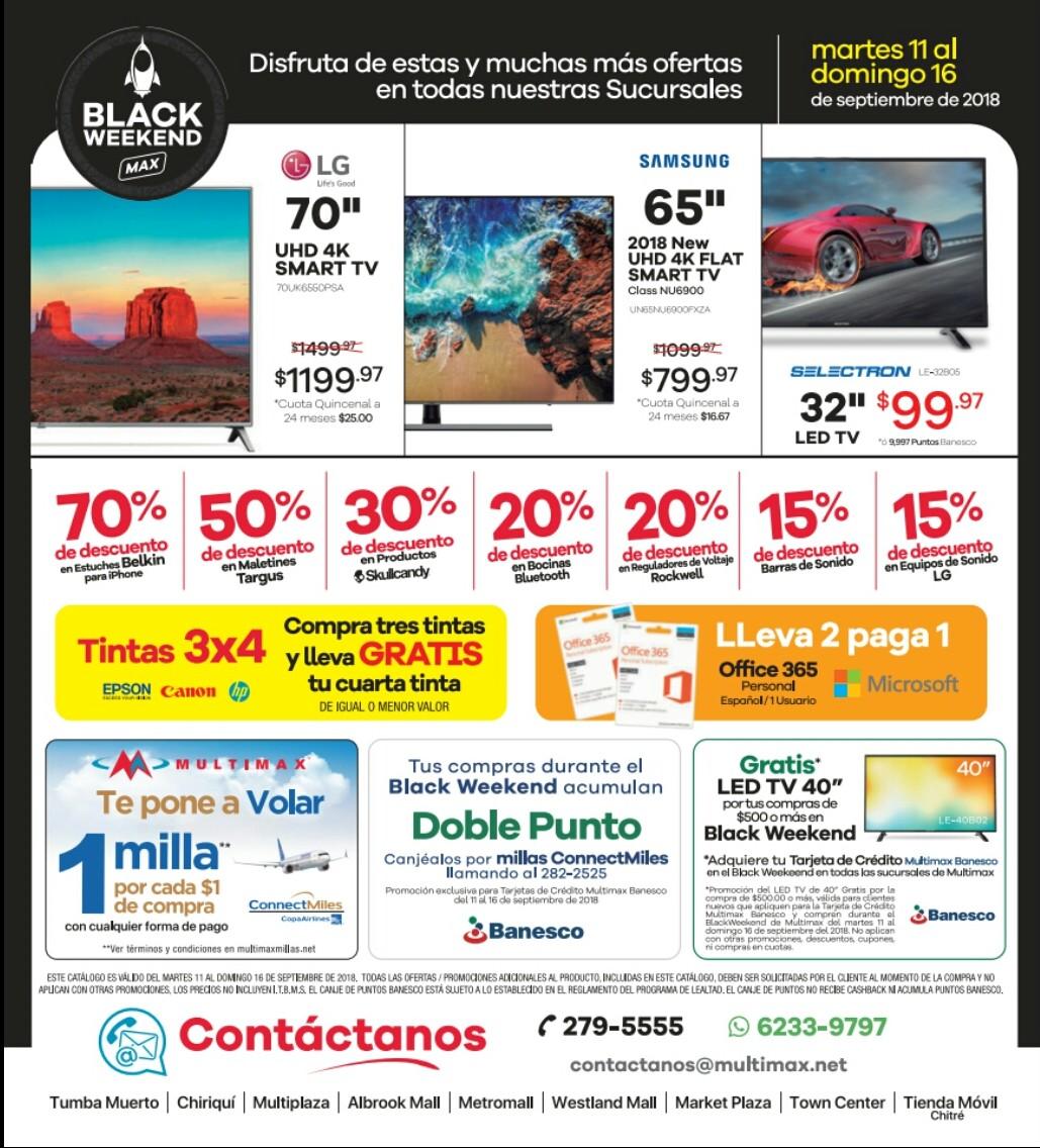Catalogo Blackweekend Multimax 2018 p4