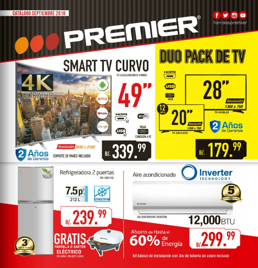Catalogo de ofertas Premier -septiembre 2018 p1