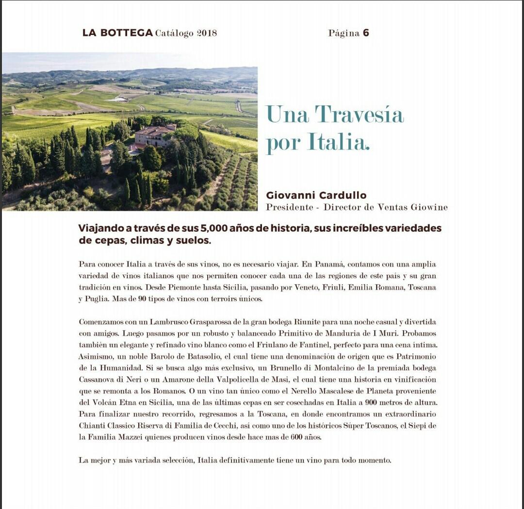 Catalogo Bottega Varela hermanos 2018 p6
