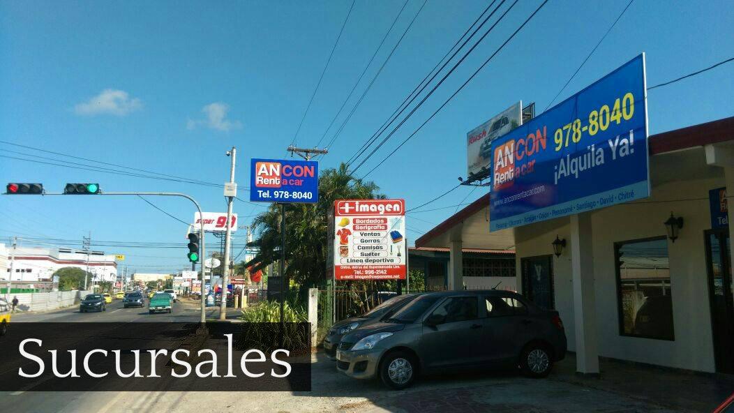 ancon rent a car sucursales