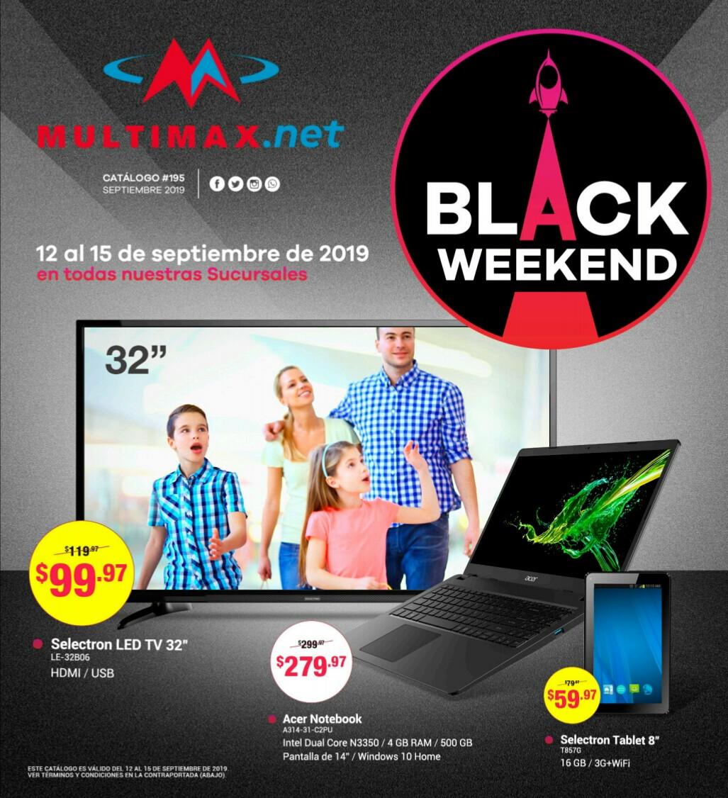 Catalogo Multimax Black Weekend 2019 p1